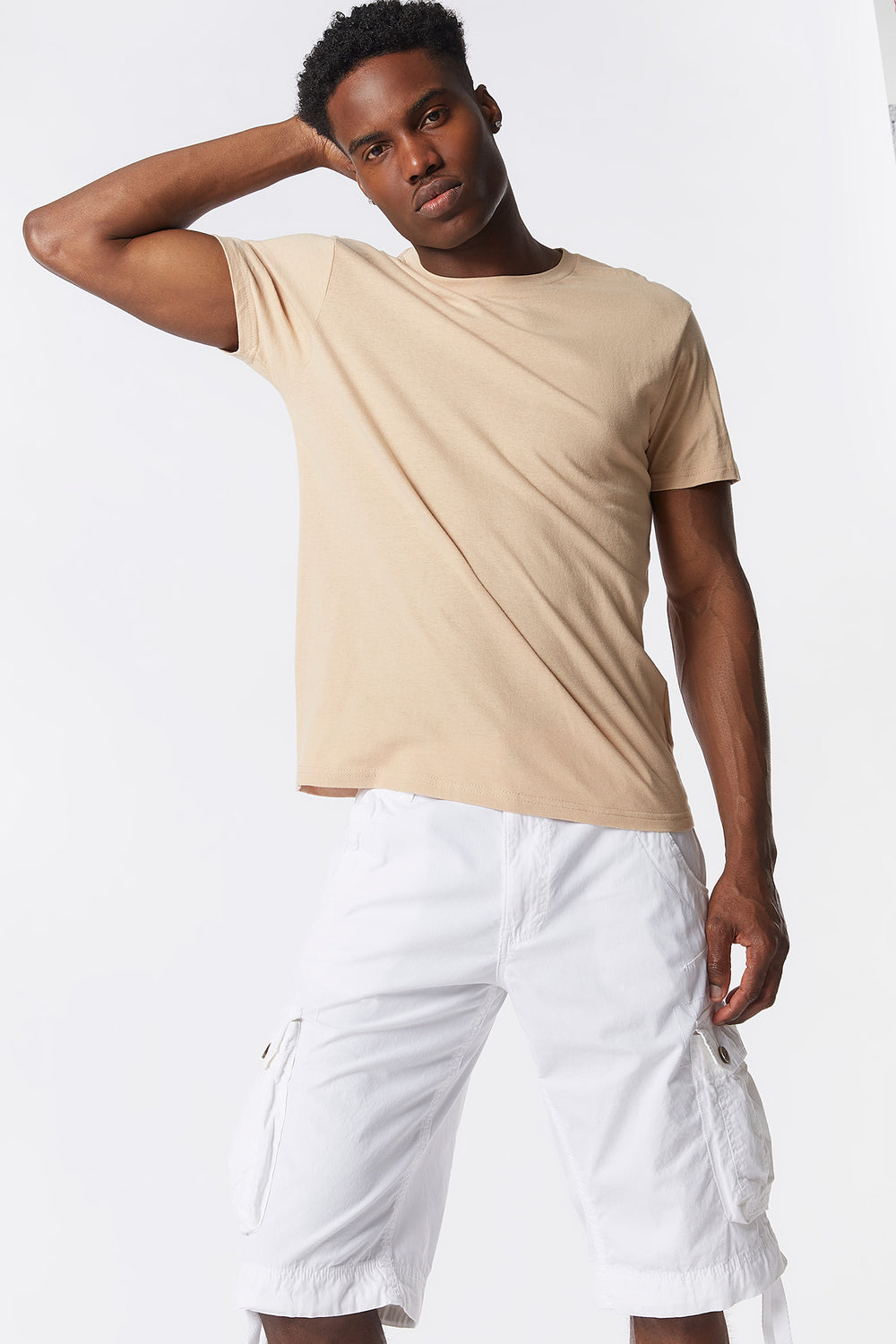 Solid Cargo Short White