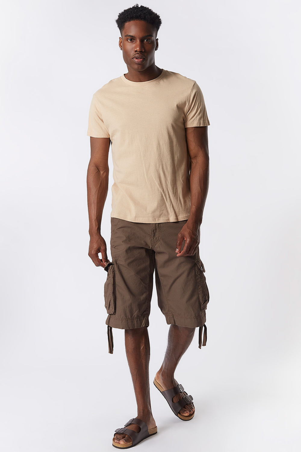 Shorts Cargo Unicolor Marrón