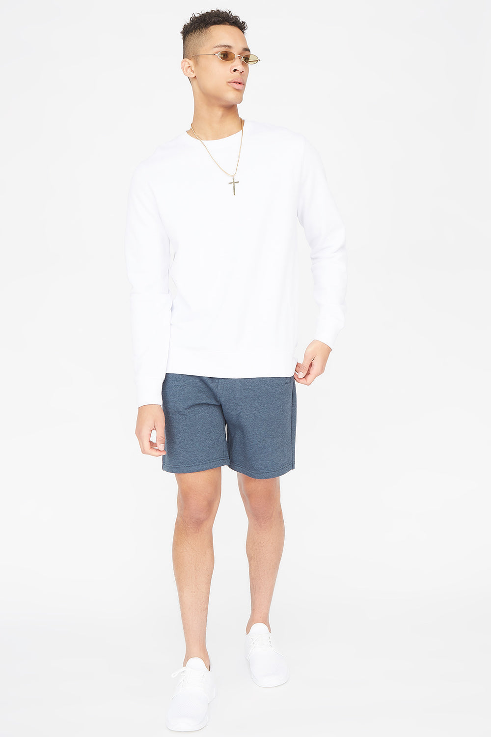 Fleece Everyday Basic Short Denim Blue