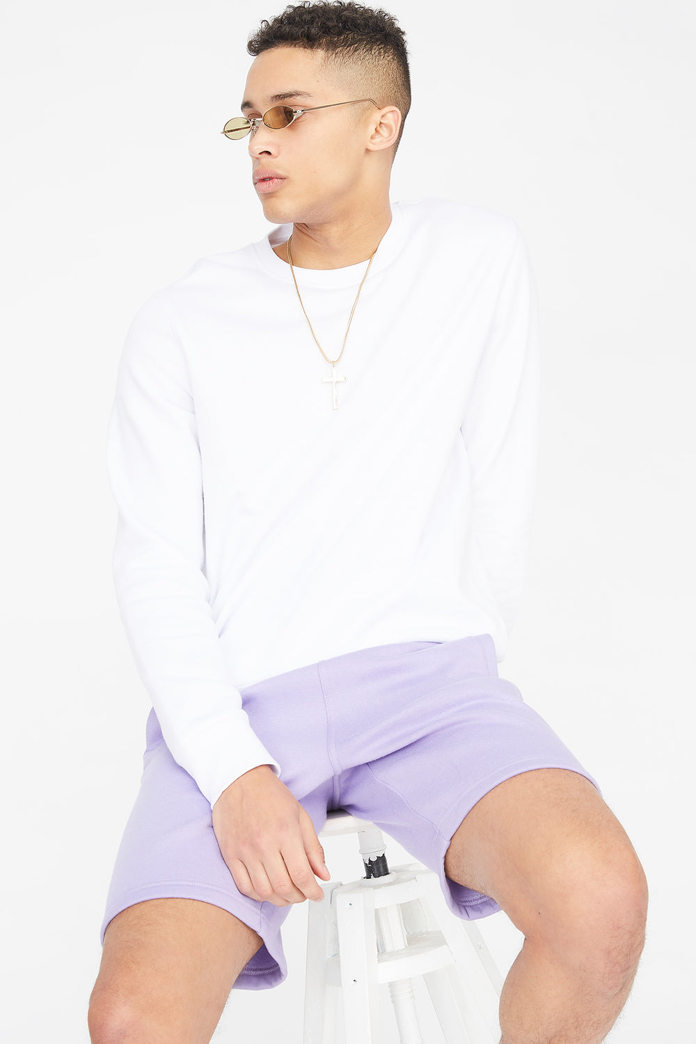 Fleece Everyday Basic Short Lilac
