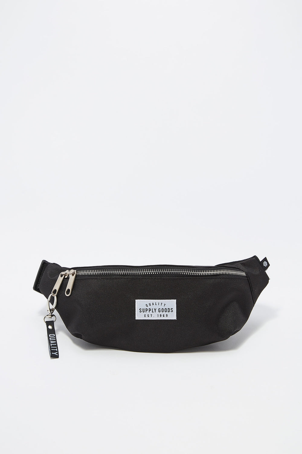 Quality Supply Goods Graphic Curved Fanny Pack Black
