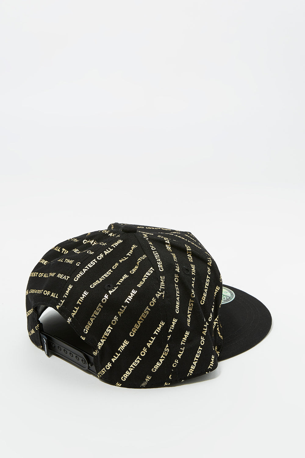 GOAT Embroidered Foil Printed Snapback Baseball Hat Black