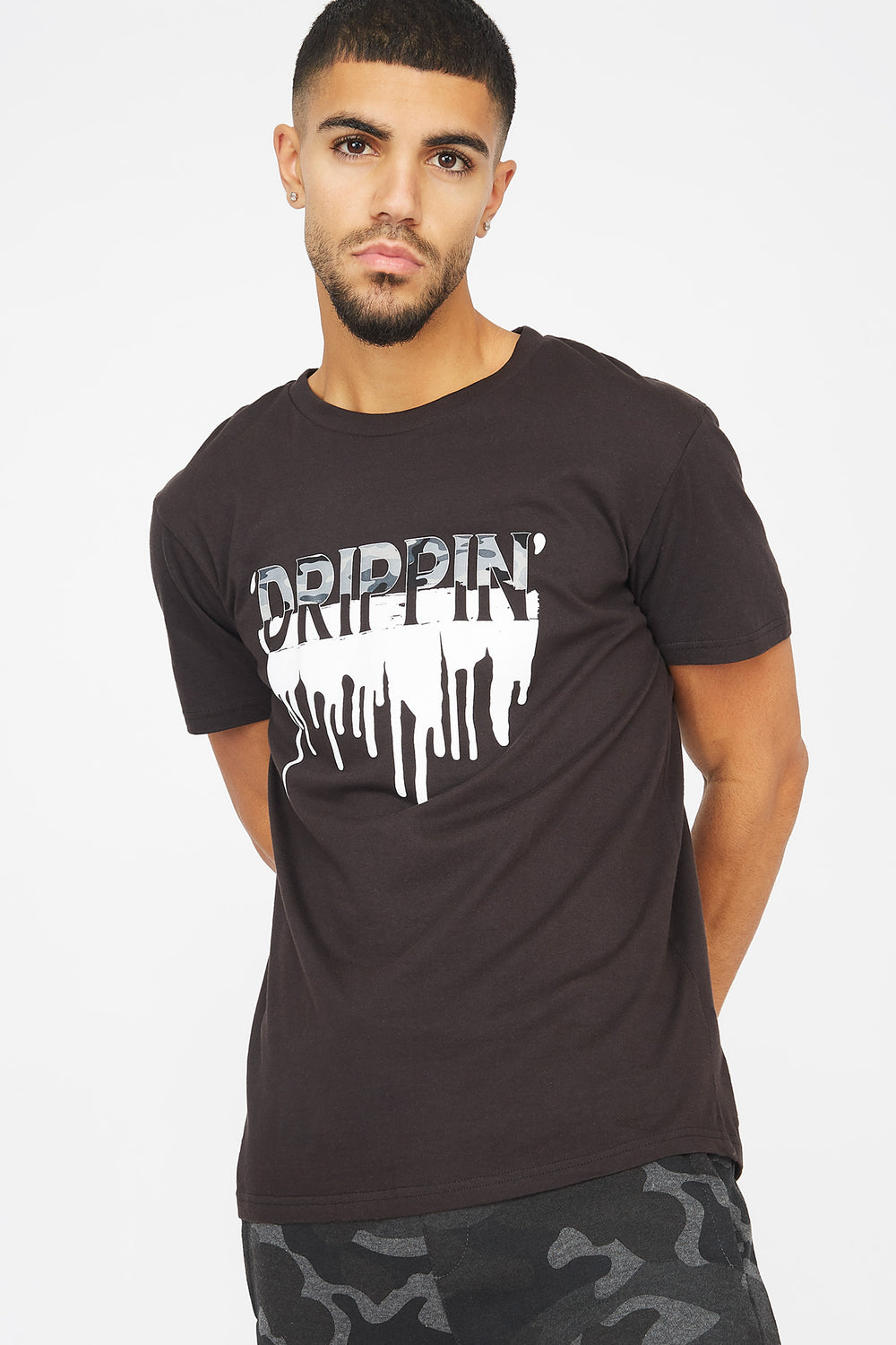 Drippin' Graphic T-Shirt Black