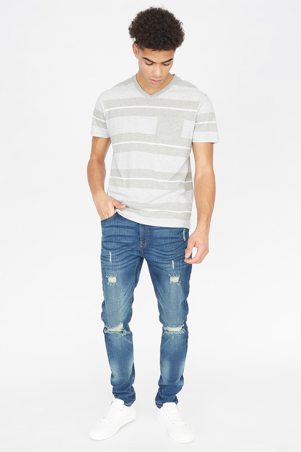 Dark Wash Distressed Skinniest Jean Midnight Blue