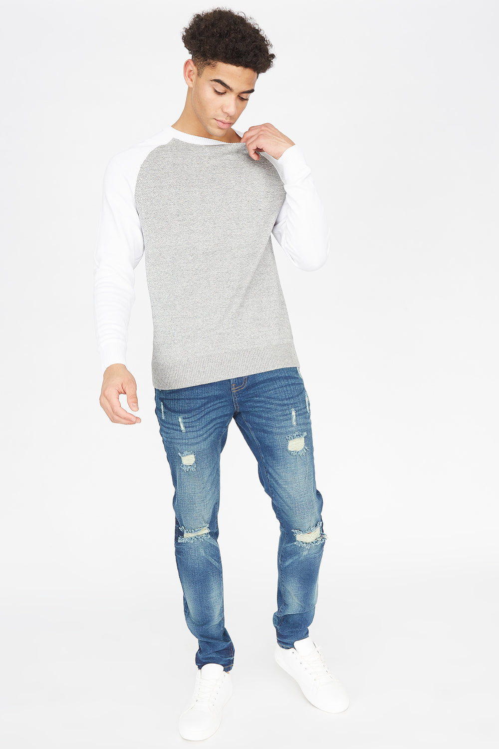 Dark Wash Distressed Skinny Jean Midnight Blue
