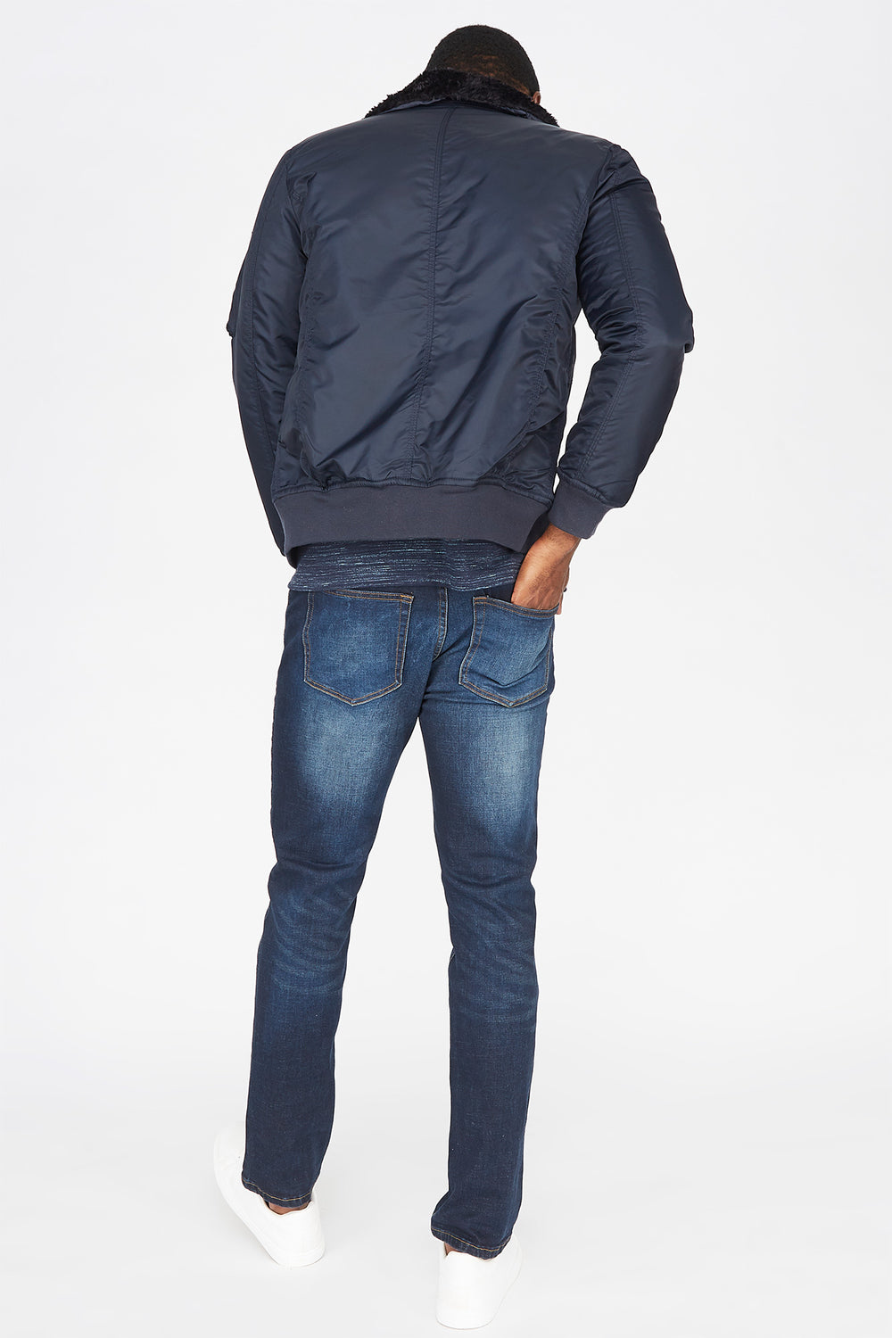 Dark Wash Slim Jean Navy Blue