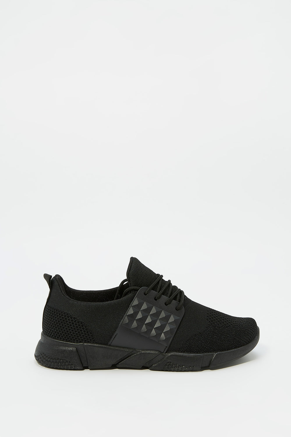 Side Caged Athletic Sneaker Black