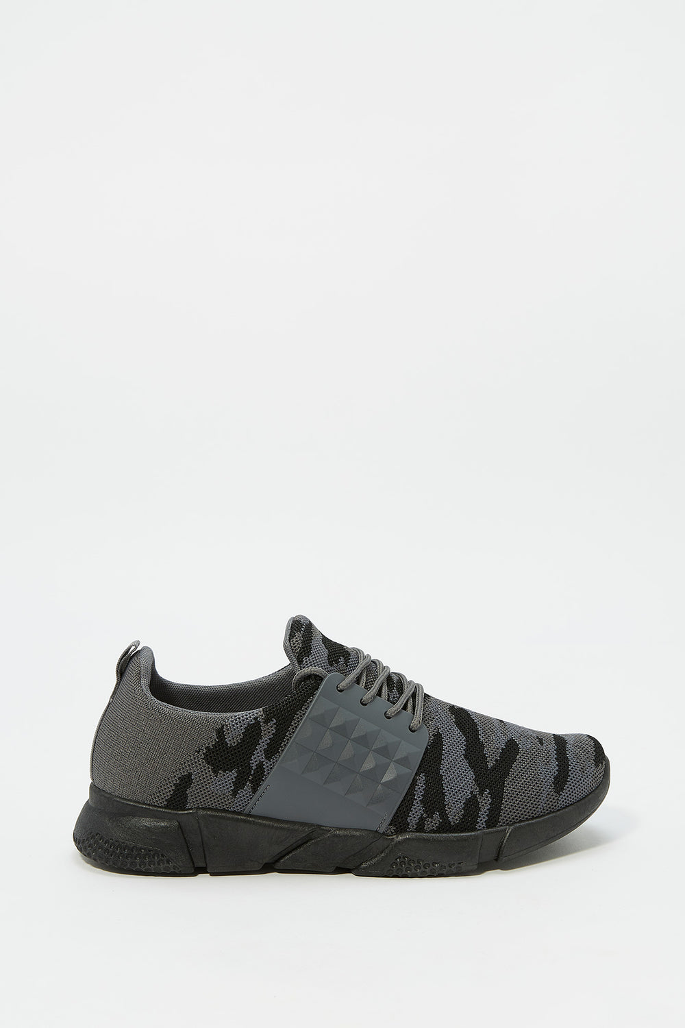Side Caged Athletic Sneaker Camouflage