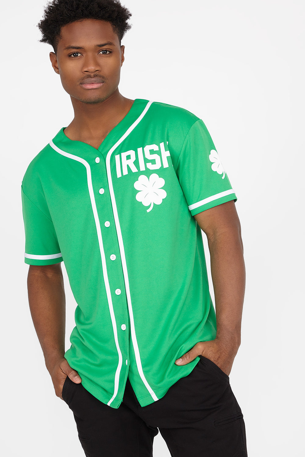 St. Patrick's Day Drinking Team Baseball Jersey Green
