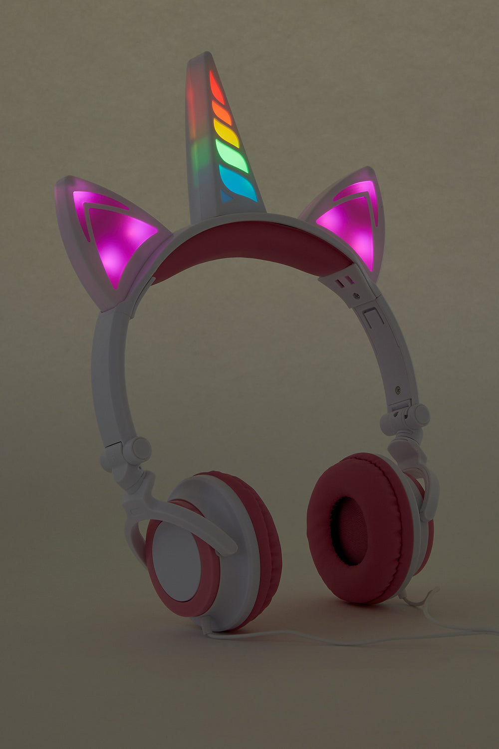 Unicorn LED Headphones Pink