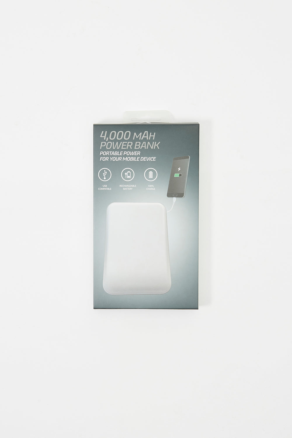 Portable Dual USB Power Bank White