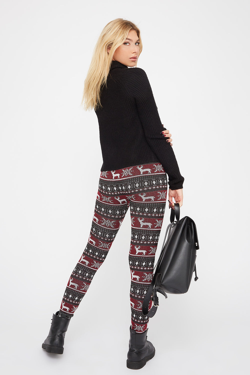 Leggings Estampados de Lana Blanco