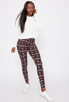 Soft Holiday Printed Fairisle Legging