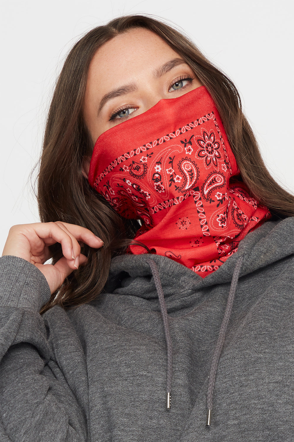 Red Multi Use Protective Face Cover Red