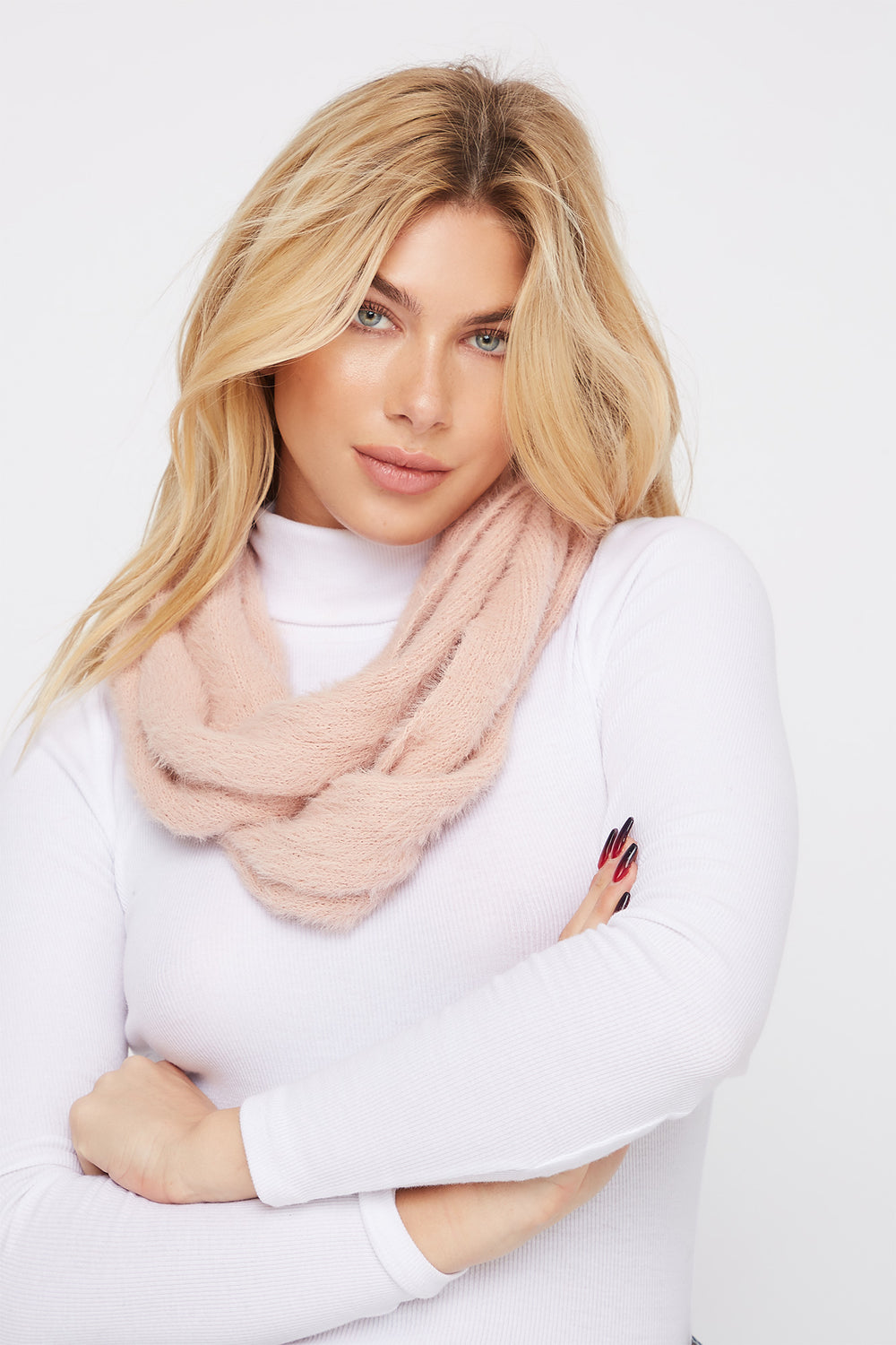 Brushed Infinity Scarf Rose