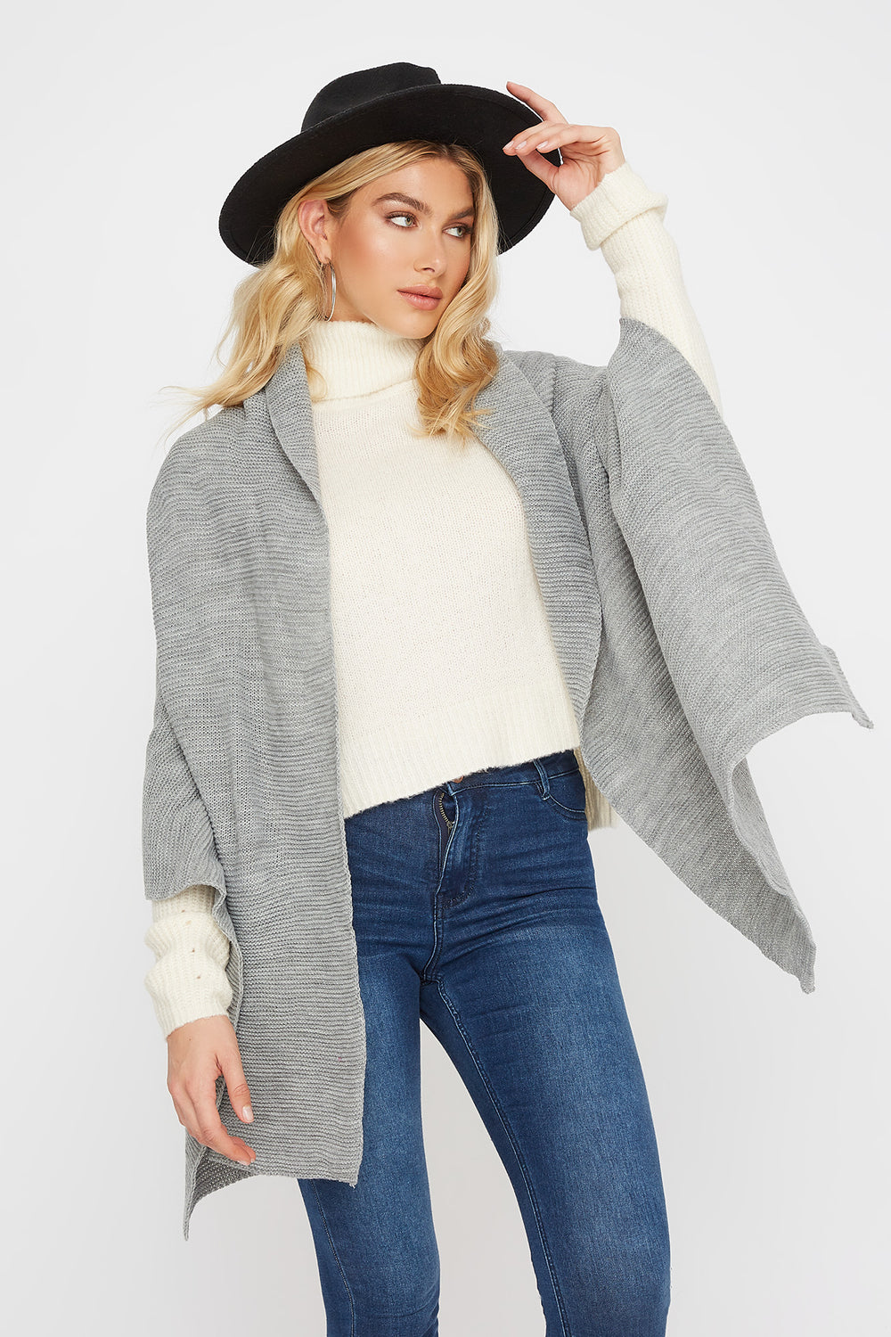 Knit Scarf Heather Grey
