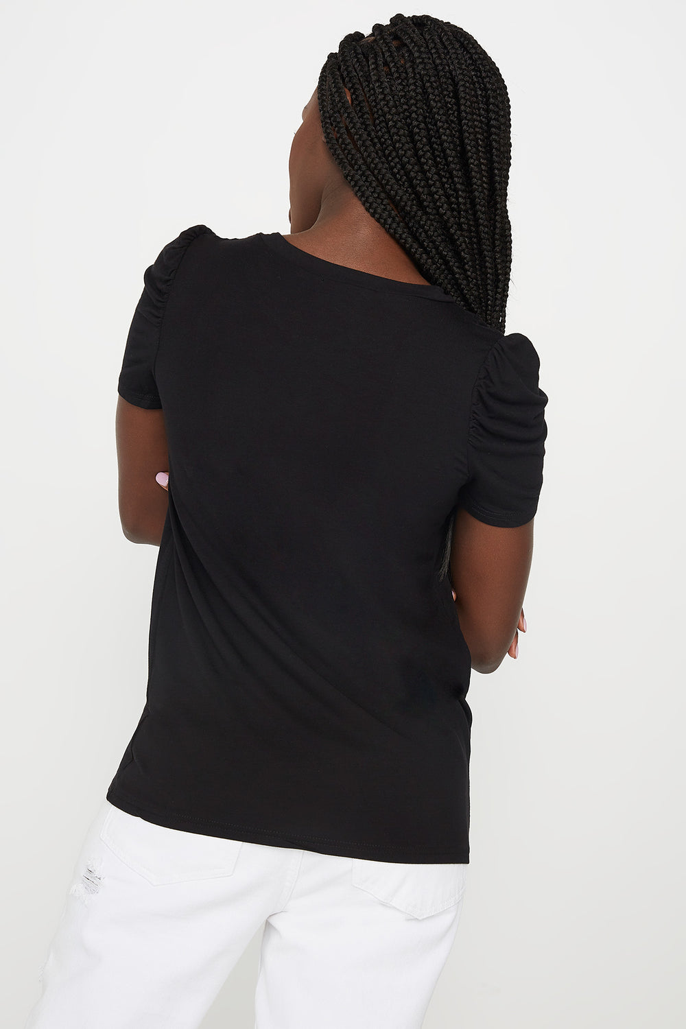 Puff Sleeve T-Shirt Black