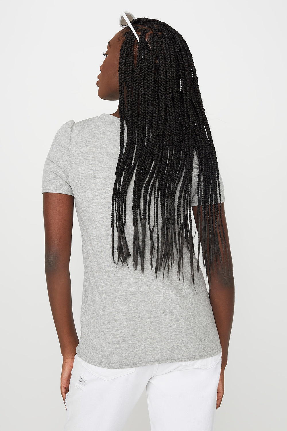 Puff Sleeve T-Shirt Heather Grey