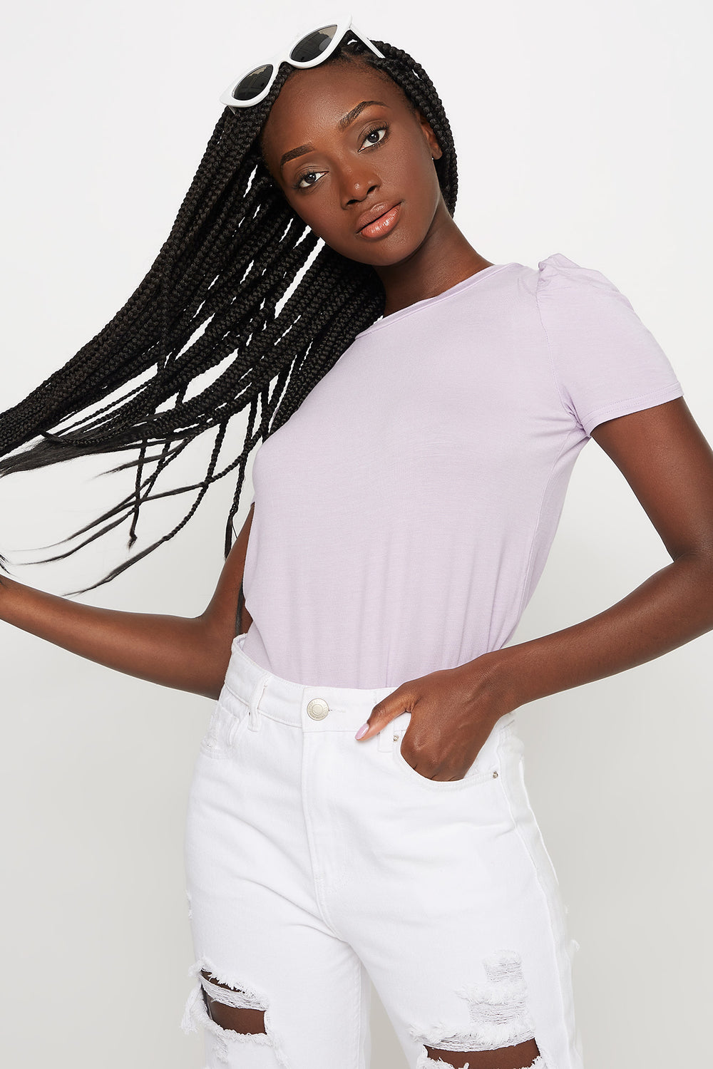 Puff Sleeve T-Shirt Lilac
