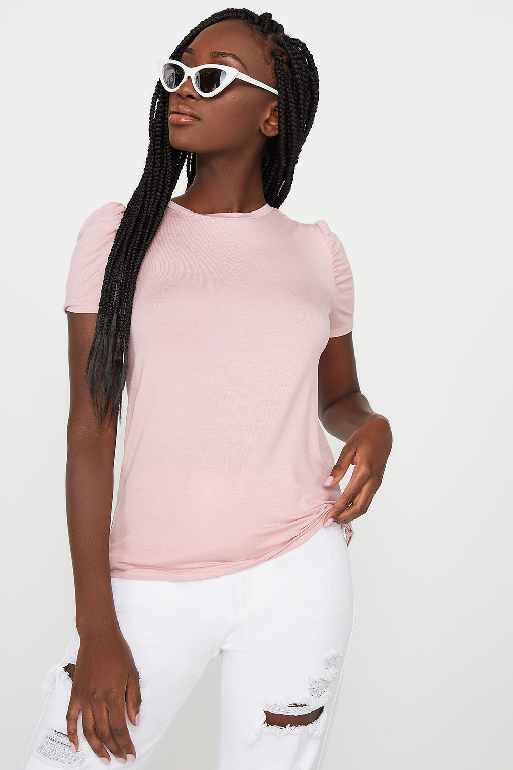 Puff Sleeve T-Shirt Pink