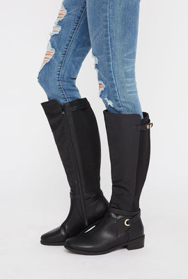 Gore Faux-Leather Knee High Boot