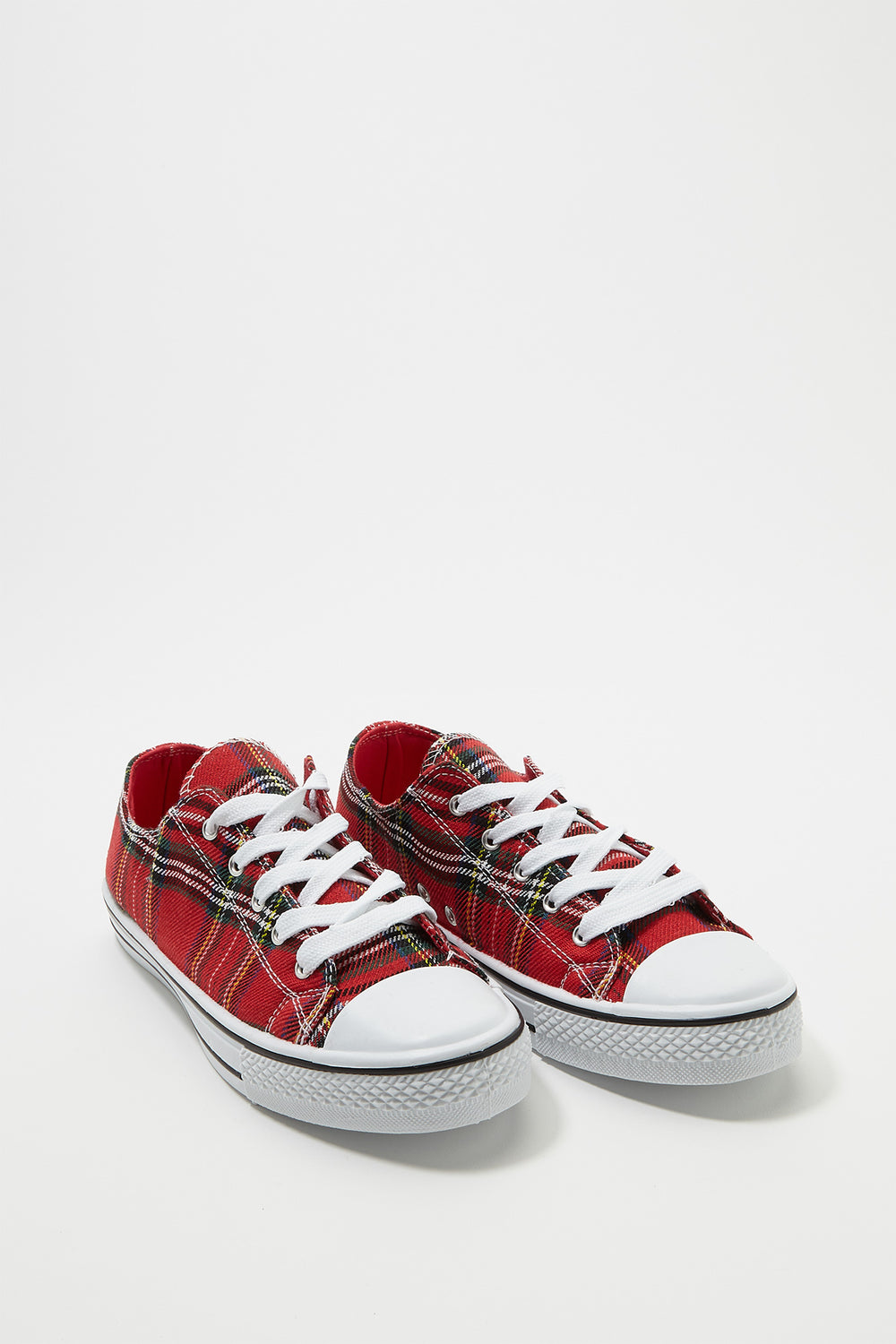 Printed Canvas Lace-Up Sneaker Multi