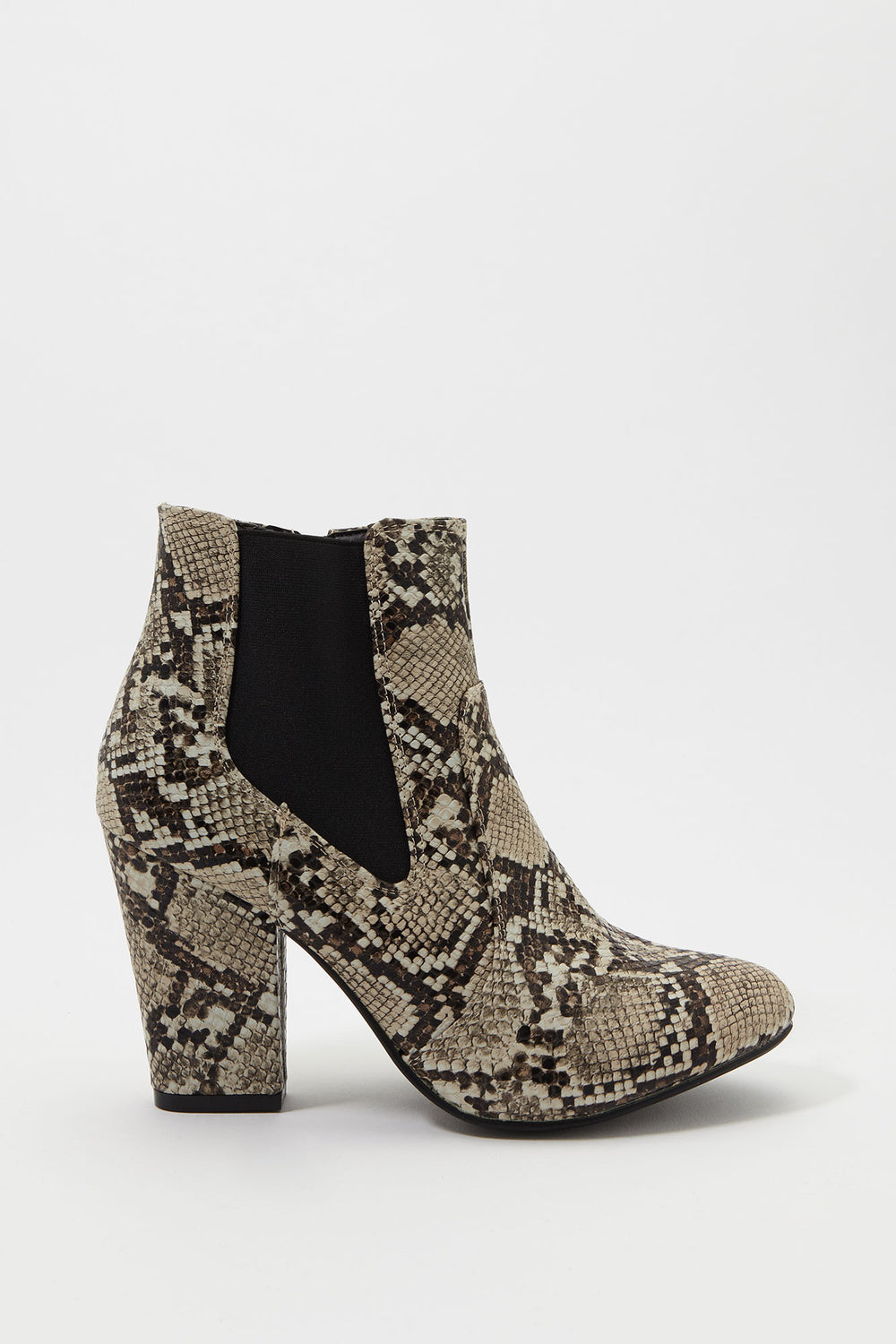 Gore Block Heel Bootie Black with White