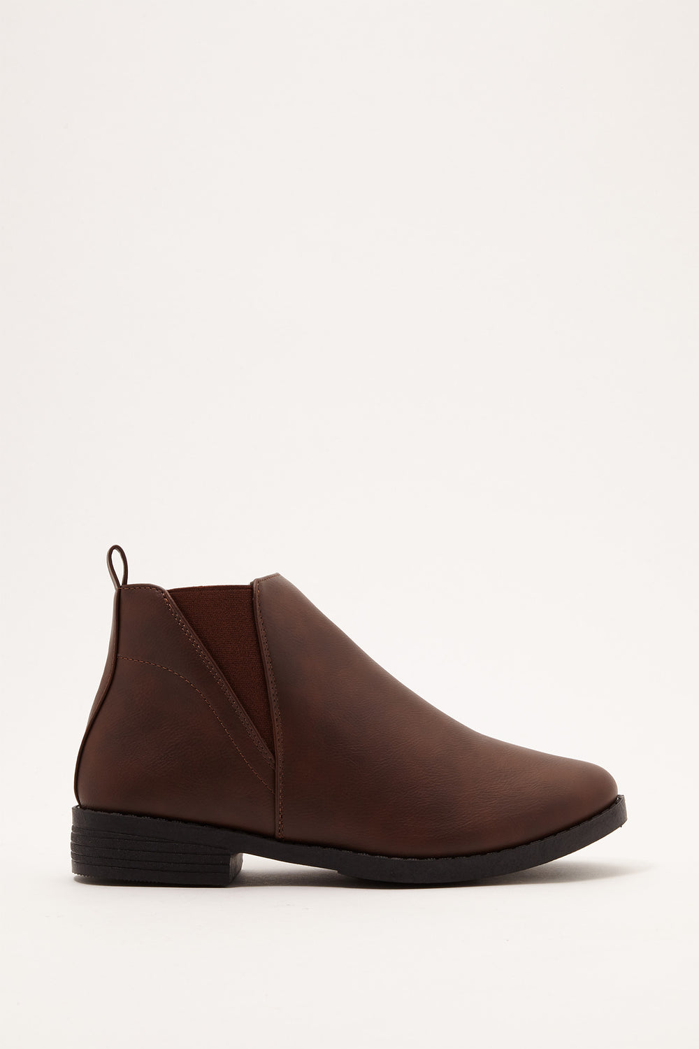 Chelsea Faux-Leather Bootie Brown