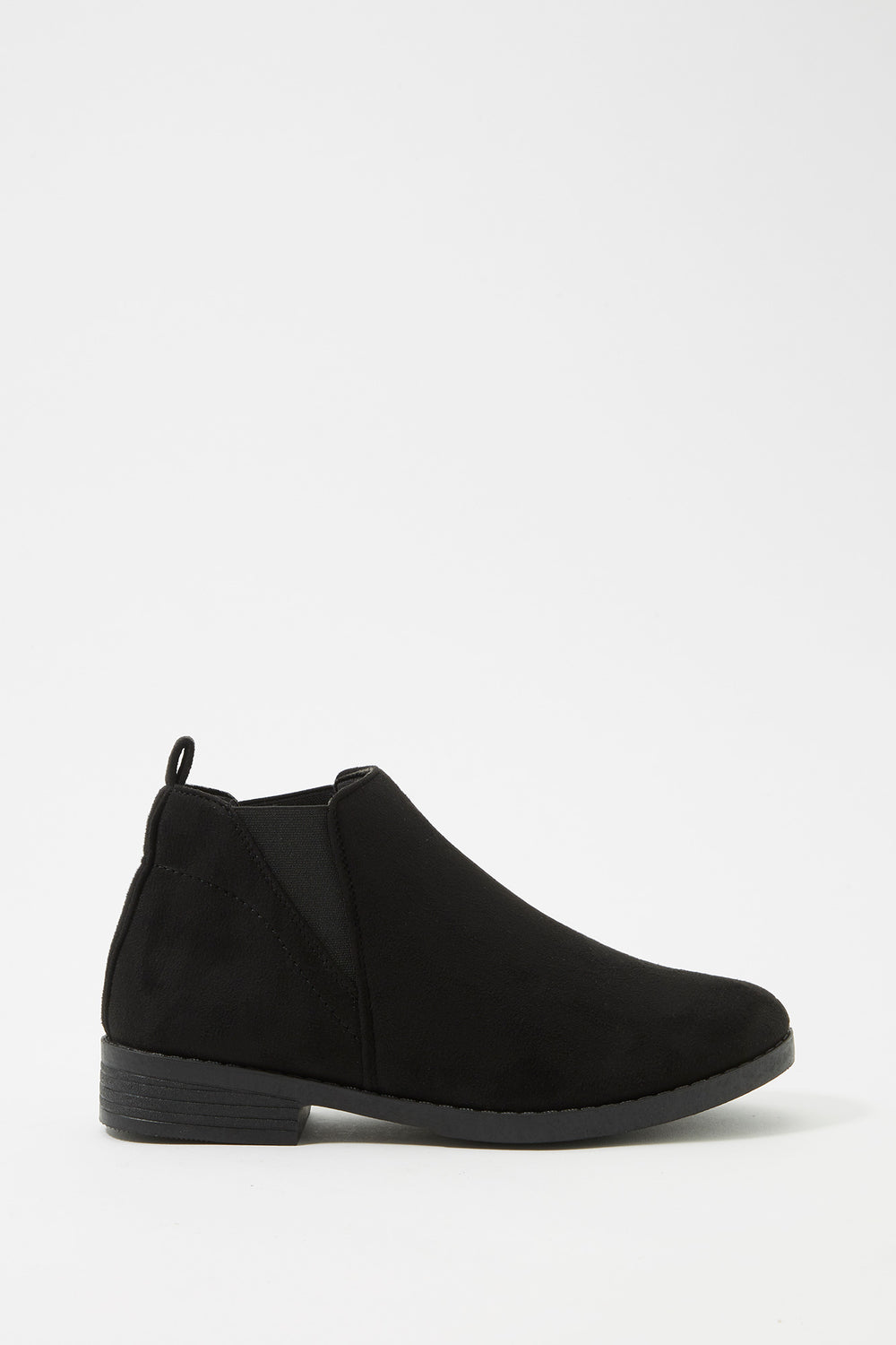Chelsea Faux-Leather Bootie Black