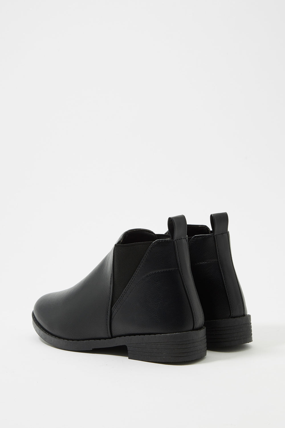 Chelsea Faux-Leather Bootie Jet Black