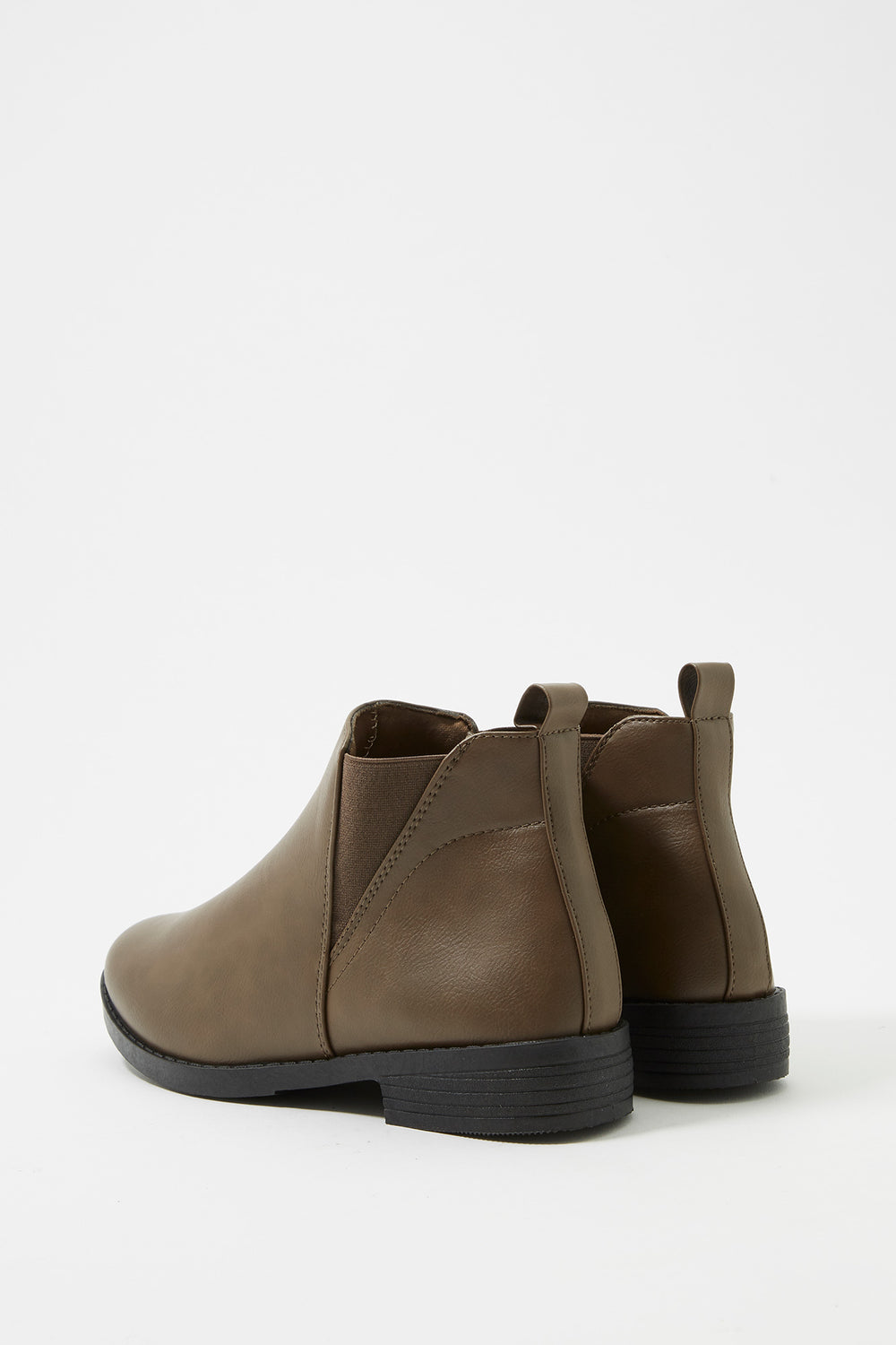 Chelsea Faux-Leather Bootie Taupe