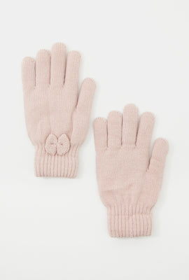Bow Knit Gloves