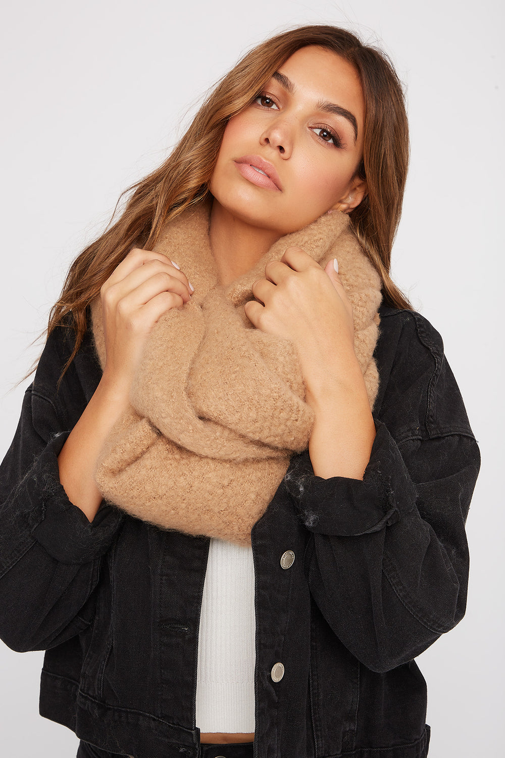 Soft Brushed Scarf Taupe