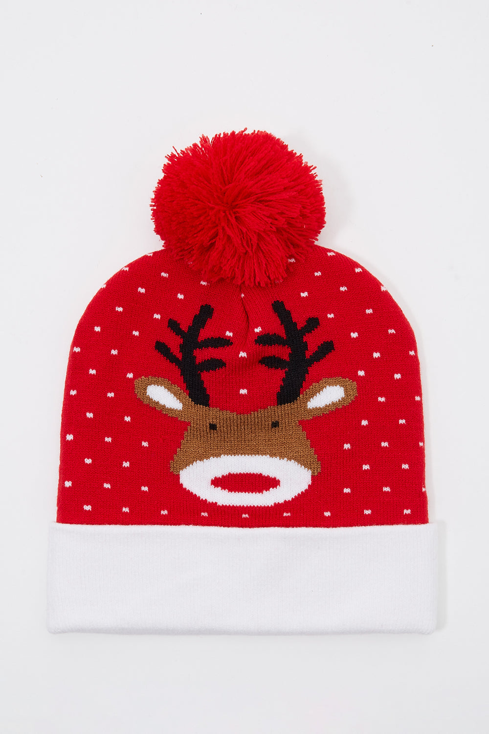 Christmas Pom Pom Beanie Red