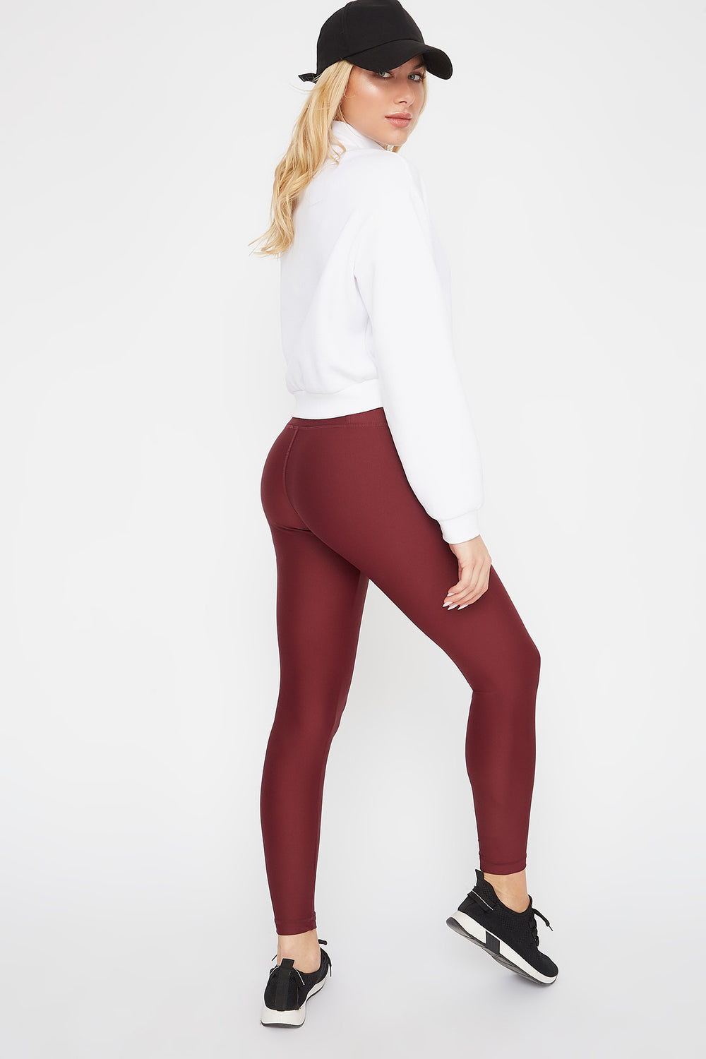 Infinite High-Rise Active Legging Burgundy