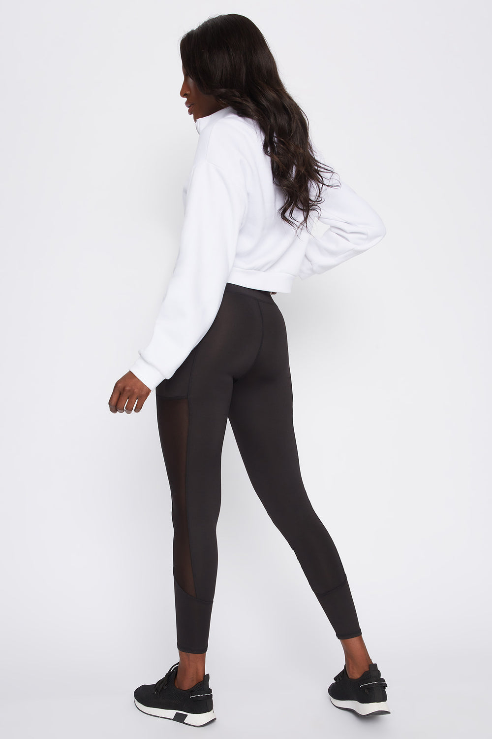 Infinite Mesh Side Active Legging Black