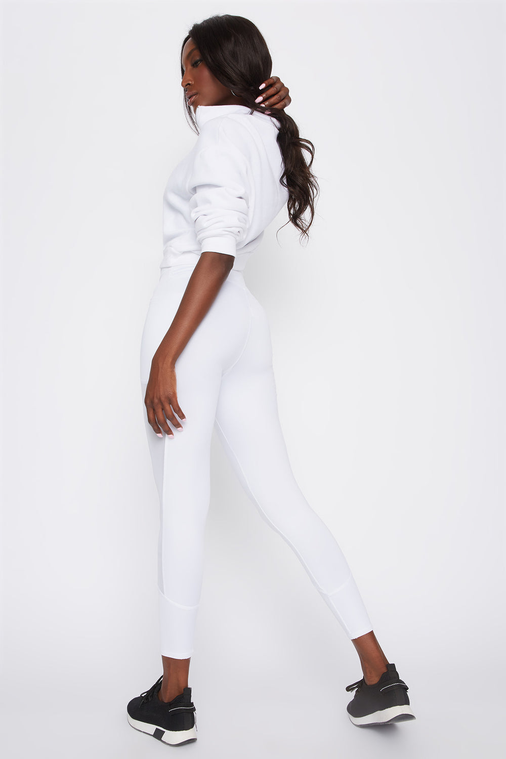 Infinite Mesh Side Active Legging White