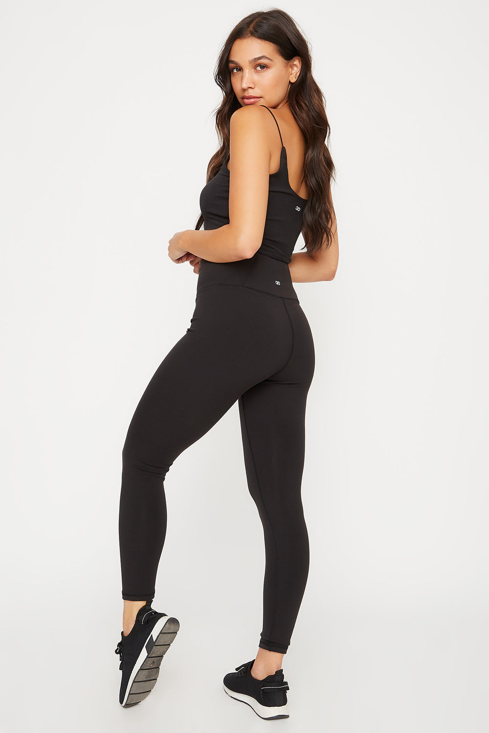 Eco-Friendly Recycled Polyester Infinite High-Rise Pocket Active Legging Black