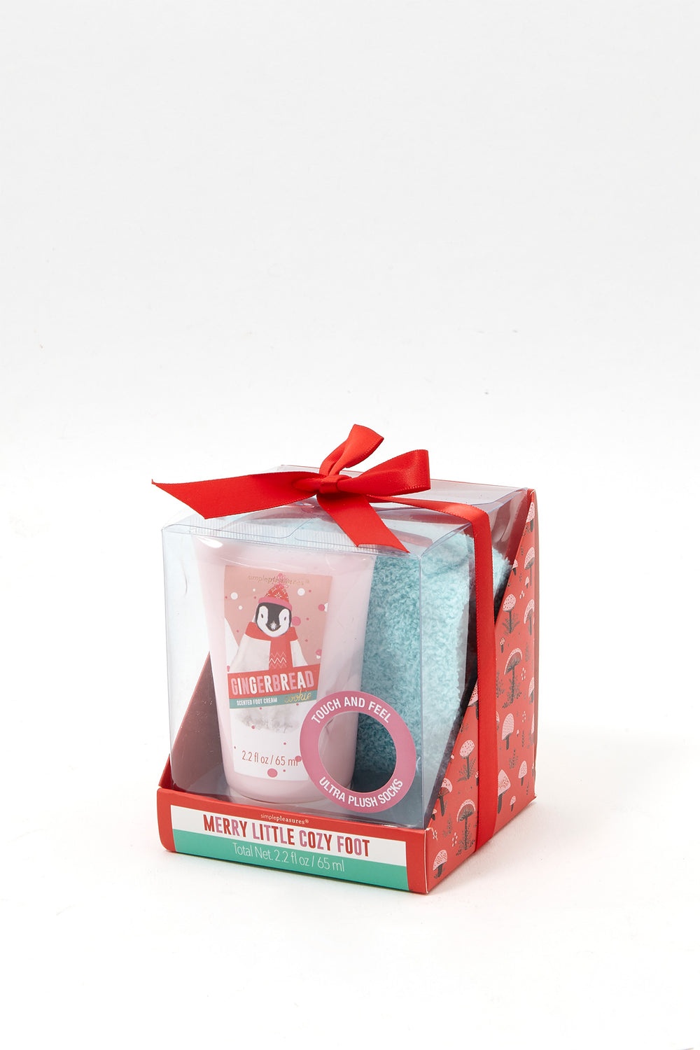 Fuzzy Socks and Lotion Gift Set Blue