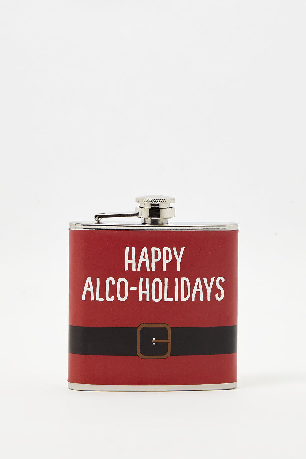 Christmas Graphic Flask Red