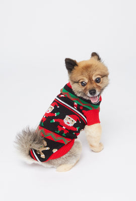 Holiday Printed Pet Sweater