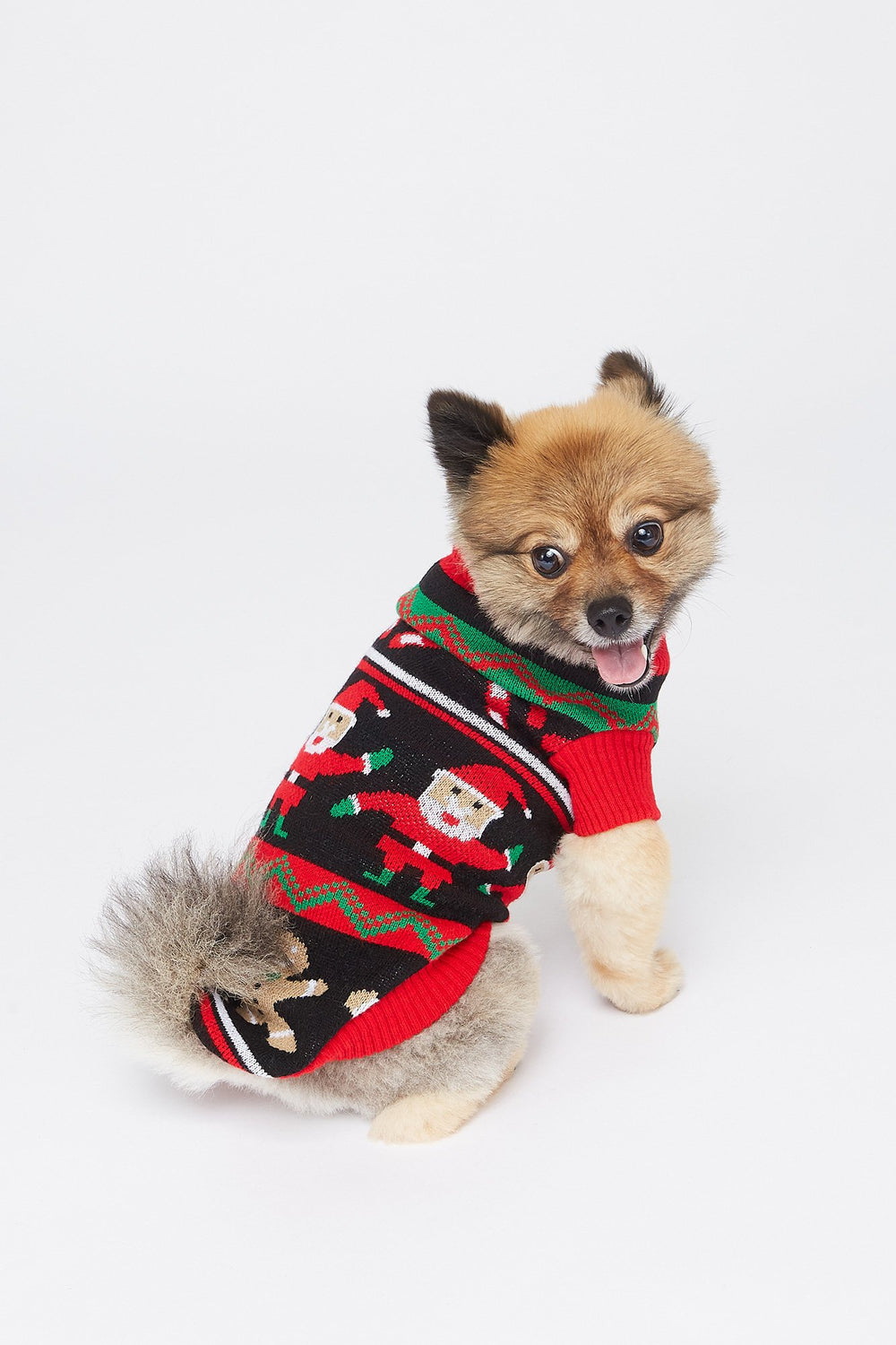 Holiday Printed Pet Sweater Black