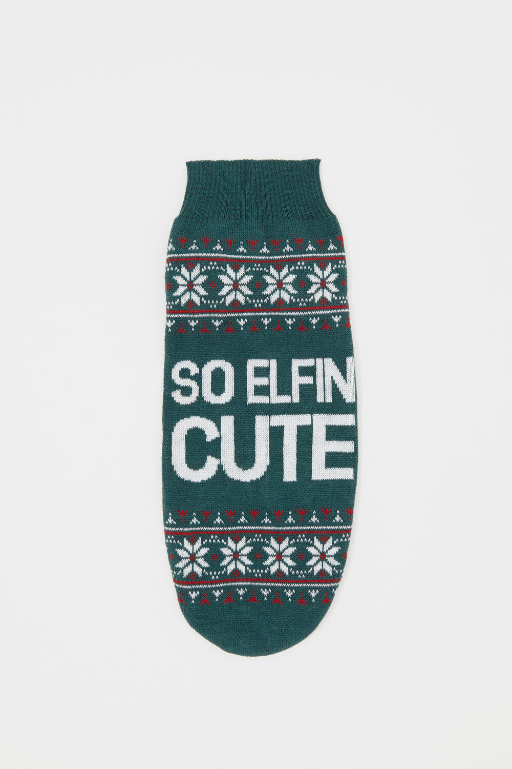Elfin' Cute Pet Sweater Hunter Green
