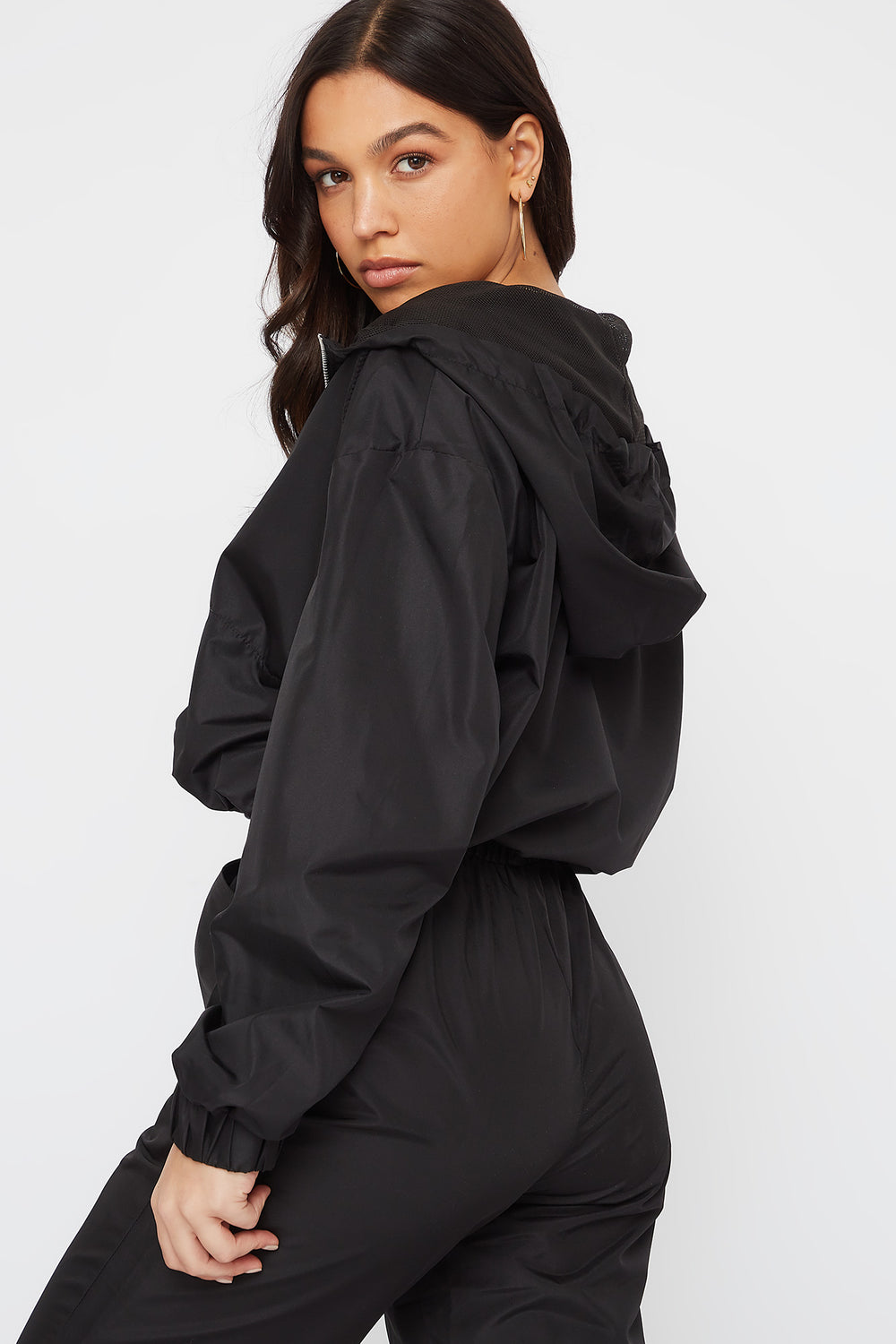 Anorak Windbreaker Pullover Black