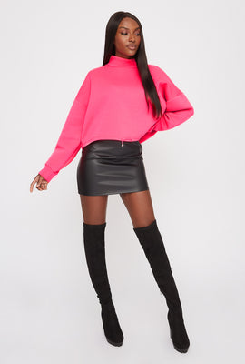 Mock Neck Dolman Long Sleeve