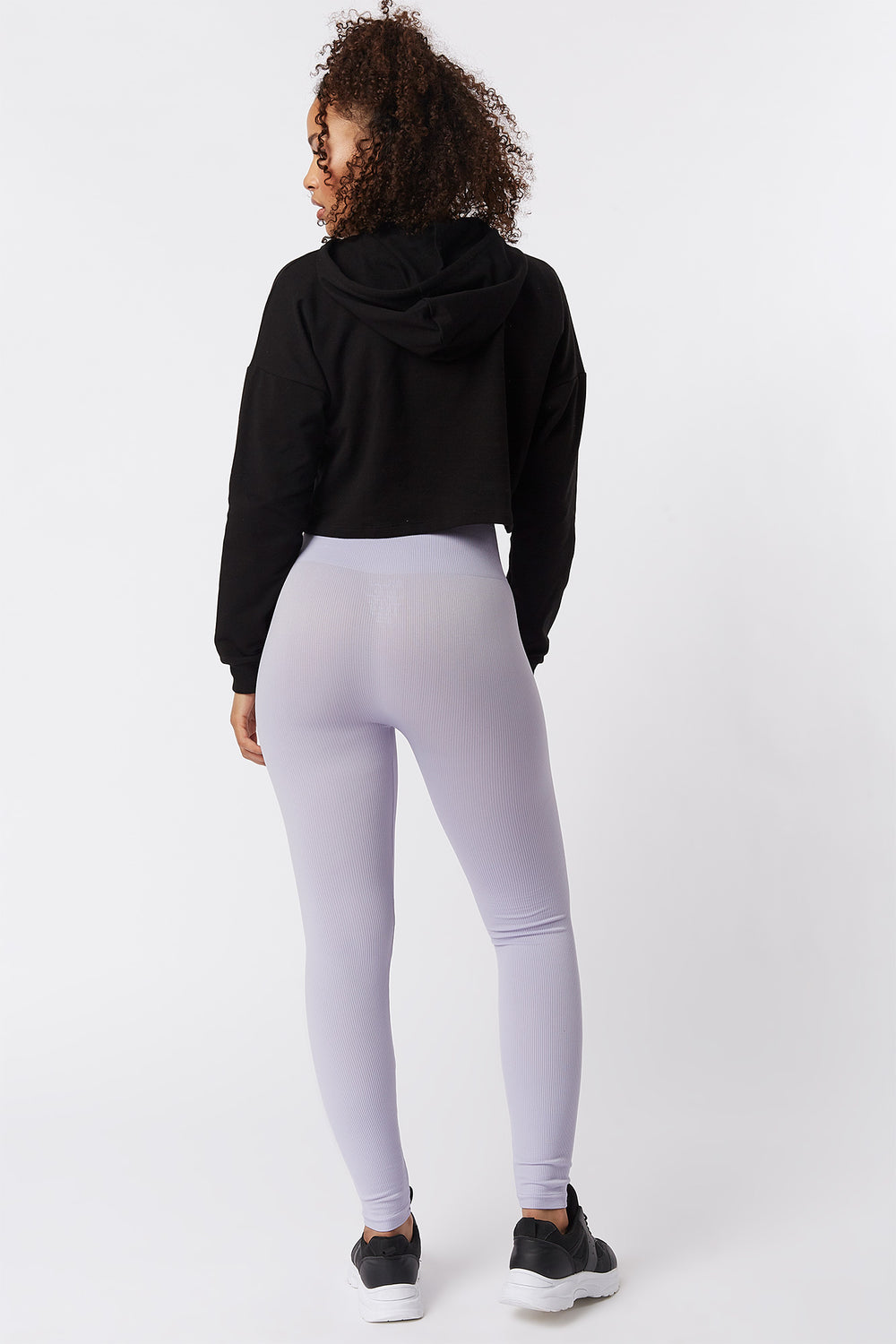 Seamless Ribbed High-Rise Legging Lilac