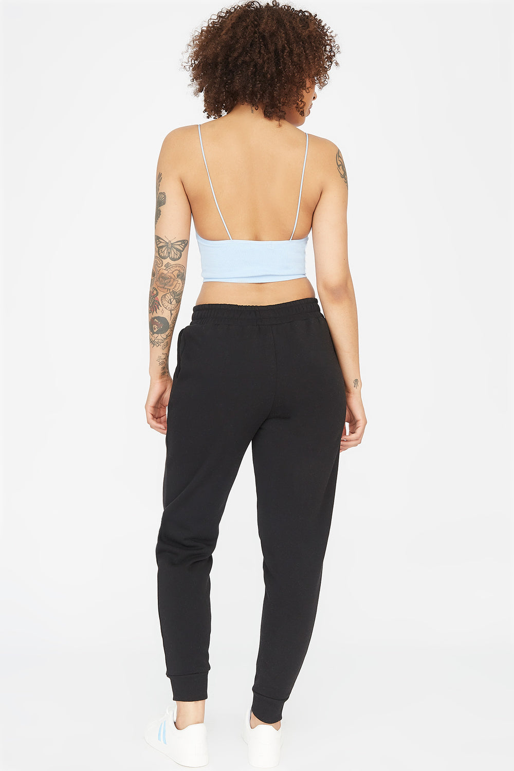 Fleece Drawstring Jogger Black