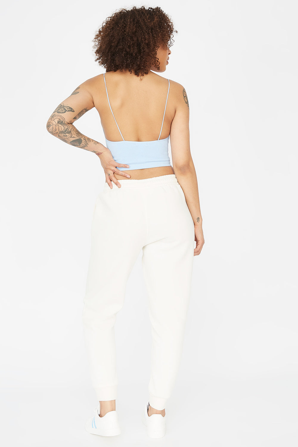 Fleece Drawstring Jogger Ivory