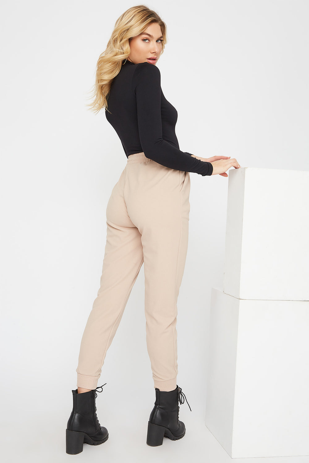 Crepe Jogger Ivory