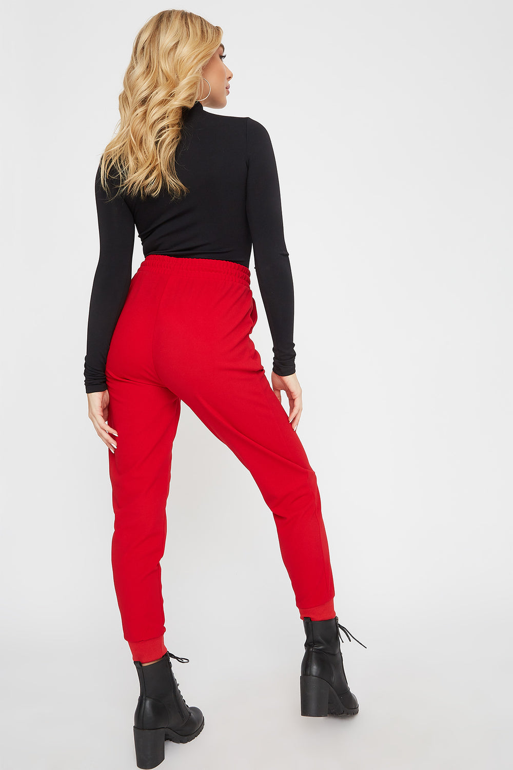 Crepe Jogger Red